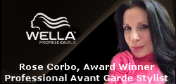 Rose Corbo, Wella Award Winner, Professional Avant Garde Hairstylist