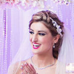 bridal hairstyle half up with veil